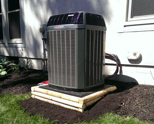 An air conditioning unit.