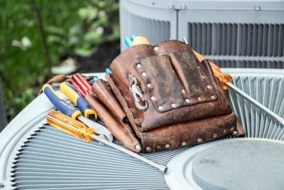 HVAC service technician tool pouch.