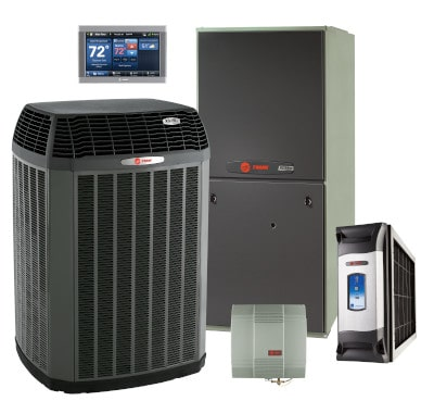 Air conditioner, furnace, and accessories.