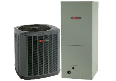 A furnace and an air conditioner.